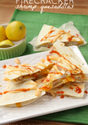 Firecracker Shrimp Quesadillas