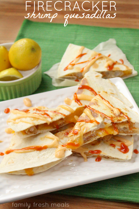Firecracker Shrimp Quesadillas - Family Fresh Meals