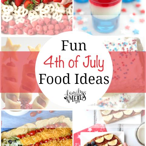 Fun 4th of July Food Ideas -- FamilyFreshMeals.com