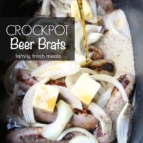 The Best Crockpot Beer Brats