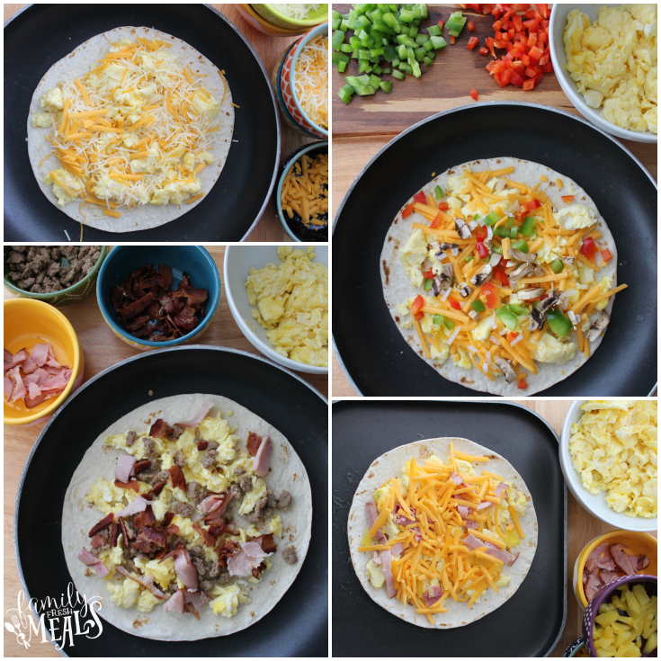 Freezer Breakfast Quesadillas - FamilyFreshMeals.com
