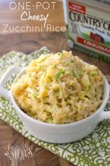 One Pot Cheesy Zucchini Rice