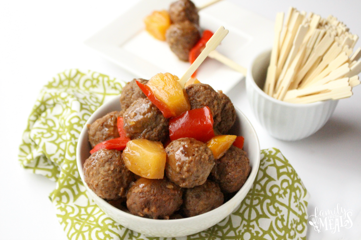 Sweet and Sour Crockpot Meatballs - Easy slow cooker meatball recipe