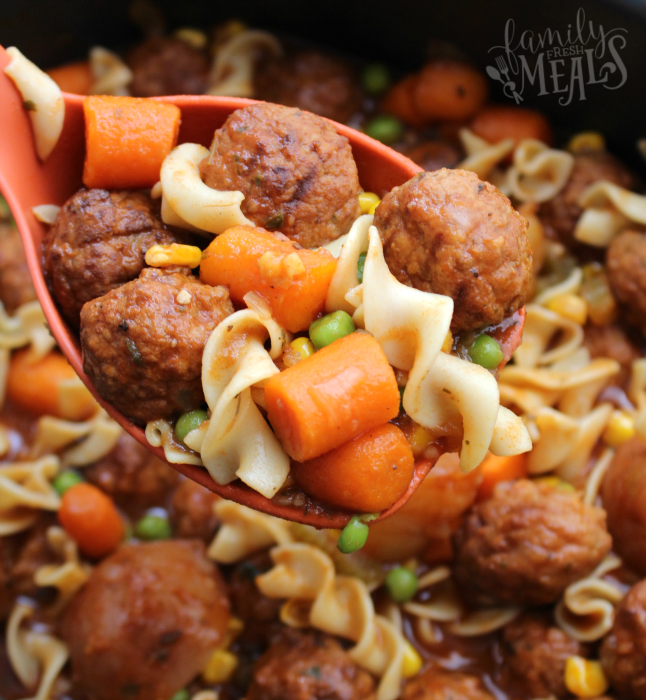 Easy Crockpot Meatball Stew Family Fresh Meals