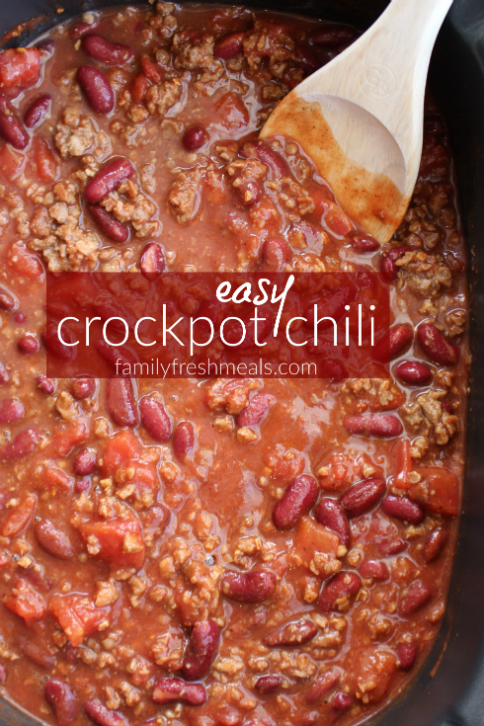Easy Crockpot Chili - FamilyFreshMeals.com -