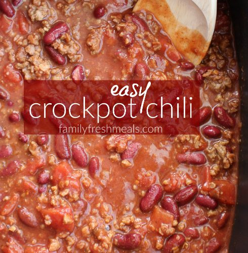Easy Crockpot Chili Family Fresh Meals