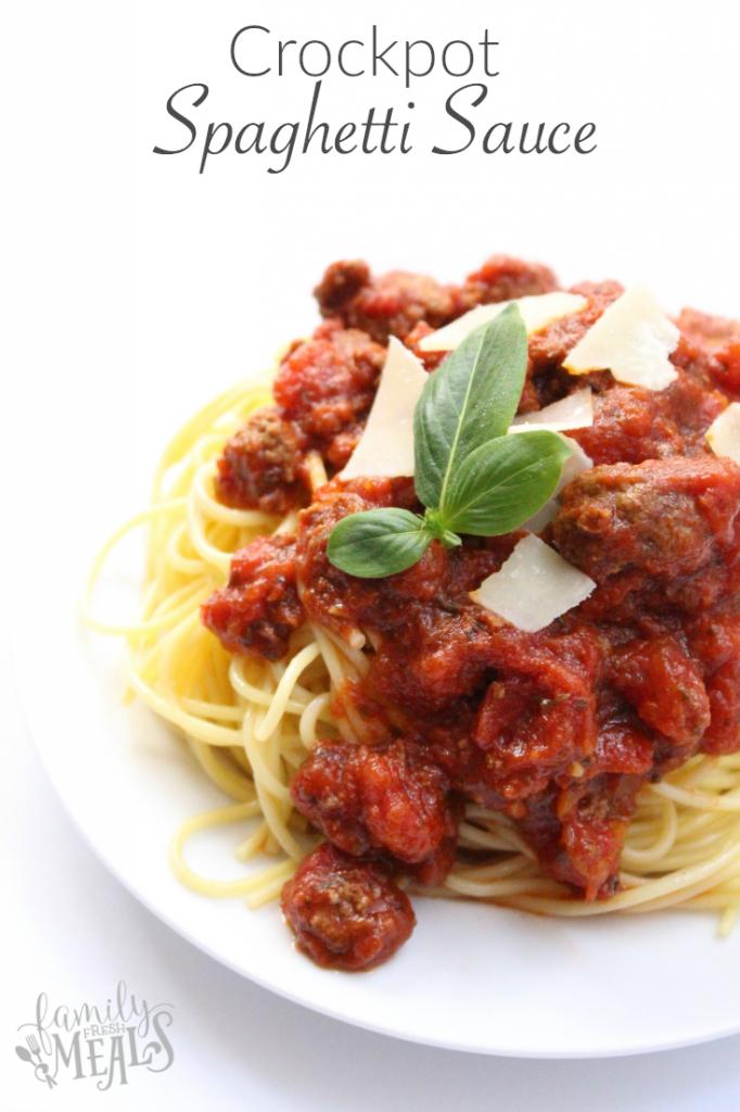 Crockpot Spaghetti Sauce - FamilyFreshMeals.com -