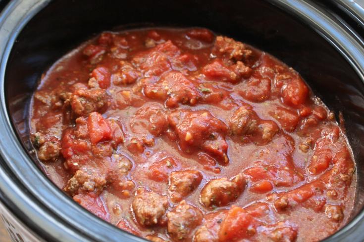 Crockpot Spaghetti Sauce - Step 1 -  FamilyFreshMeals.com --