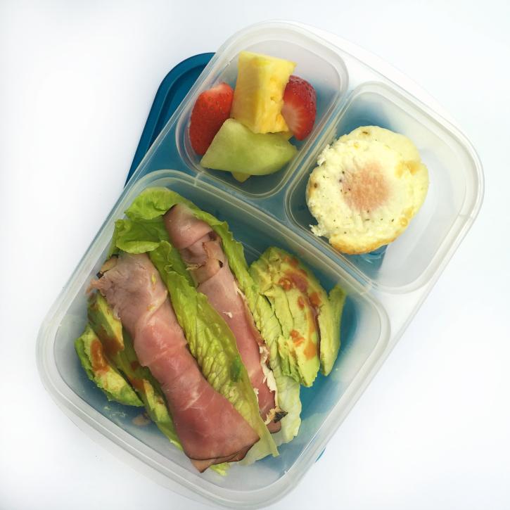 Oven Baked Egg Bites - Packed for lunch