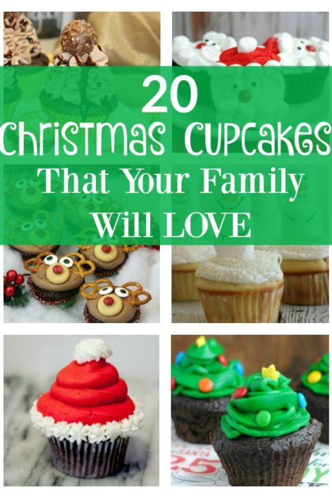 20 Holiday Cupcakes - FamilyFreshMeals.com