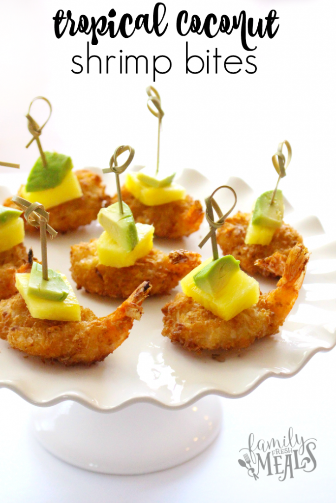 Tropical coconut shrimp bites --- familyfreshmeals.com -