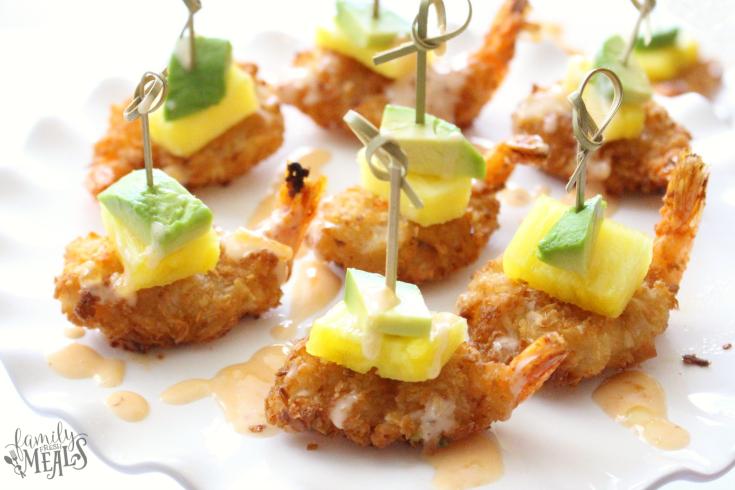 Tropical coconut shrimp bites -love this appetizer - familyfreshmeals.com - the perfect holiday appetizer