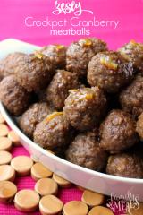 Zesty Cranberry Crockpot Meatballs