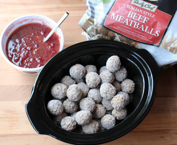 Zesty Crockpot Cranberry Meatballs - Frozen Meatballs in slow cooker