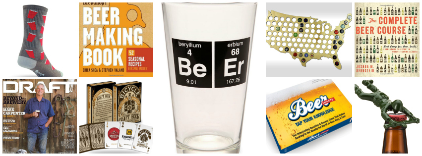 Collage image showing BEER LOVER gift ideas