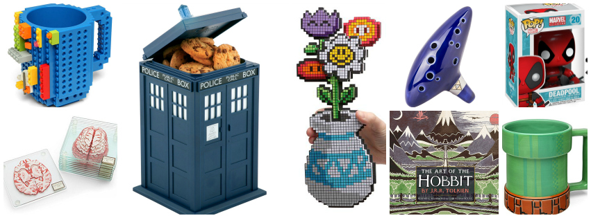 Collage image showing gift ideas
