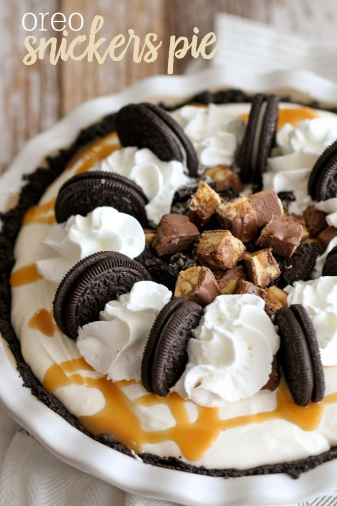 oreo snickers pie - oreo dessert recipes