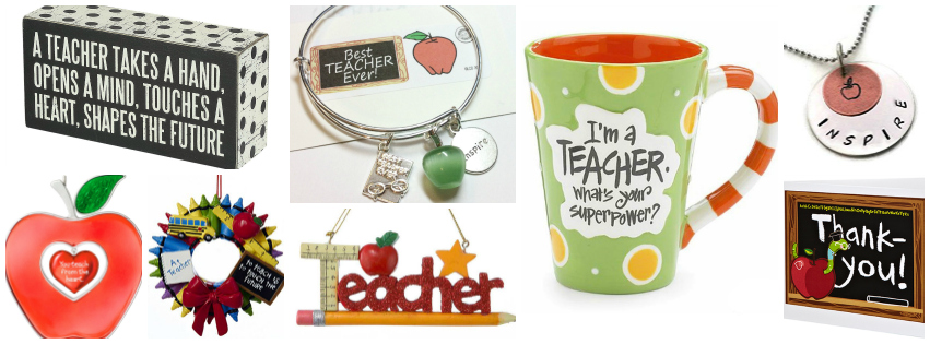 Collage image of Teacher gift ideas