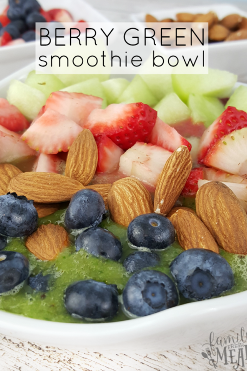 Berry Green Smoothie Bowl - FamilyFreshMeals.com -