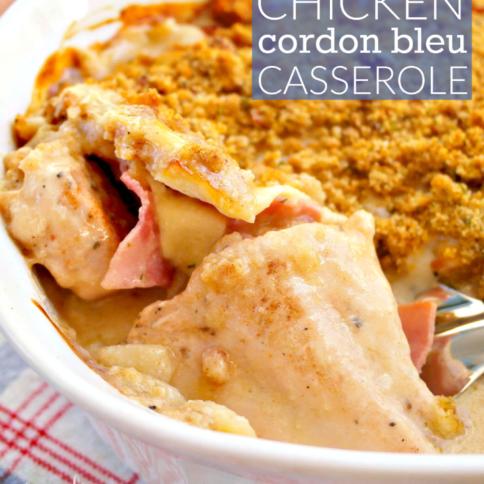 Chicken Cordon Bleu Casserole - FamilyFreshMeals.com -