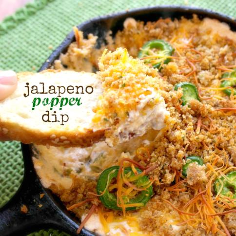 Easy Jalapeno Popper Dip - FamilyFreshMeals.com -