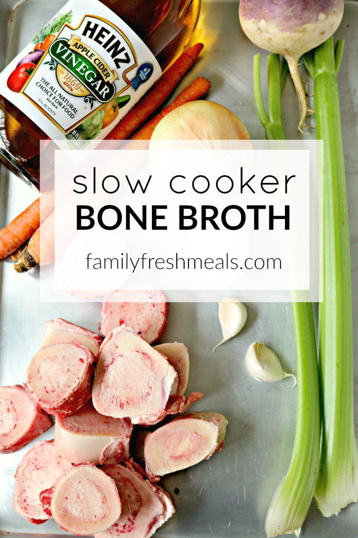 Slow Cooker Bone Broth - Healthy and Crockpot Bone Broth recipe - Family Fresh Meals