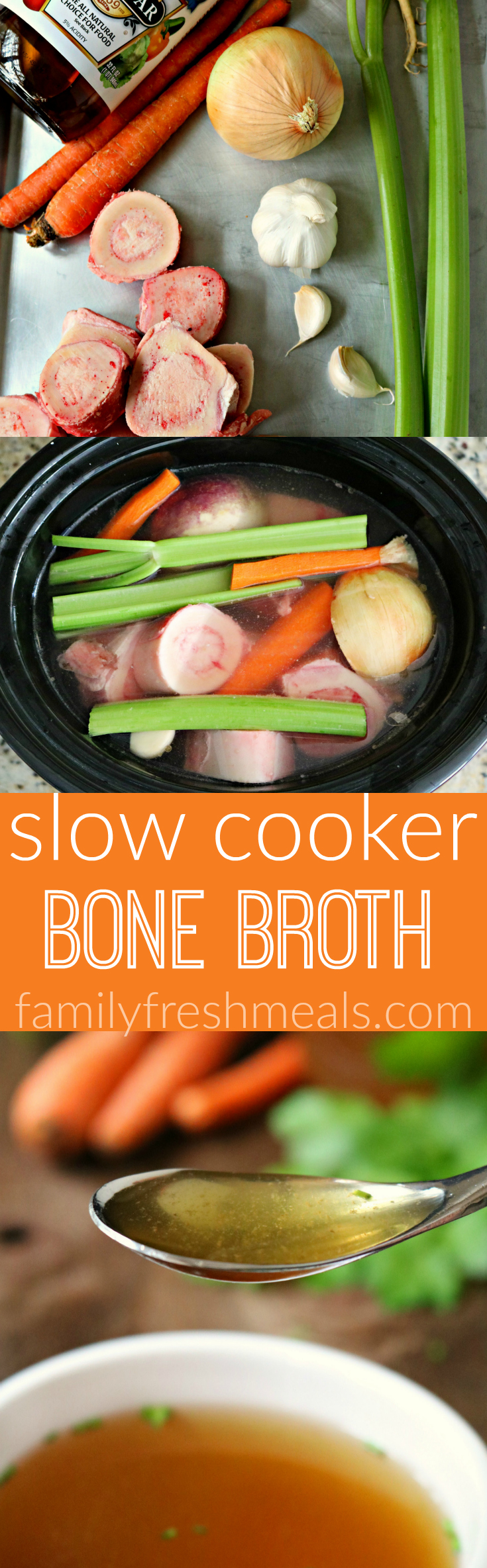 Slow Cooker Bone Broth Recipe - Family Fresh Meals
