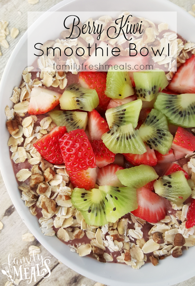 Very Berry Kiwi Smoothie Bowl --- FamilyFreshMeals.com -