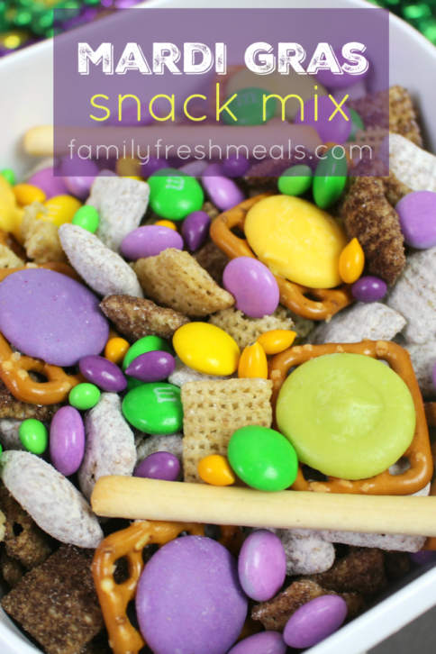 Mardi Gras Snack Mix - familyfreshmeals.com