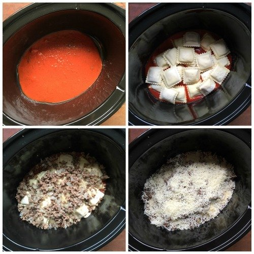 Easy Crockpot Lasagna Ravioli recipe - Easy crockpot pasta recipe
