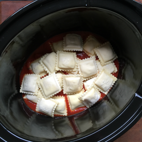 Easy Crockpot Lasagna Ravioli - Step 2