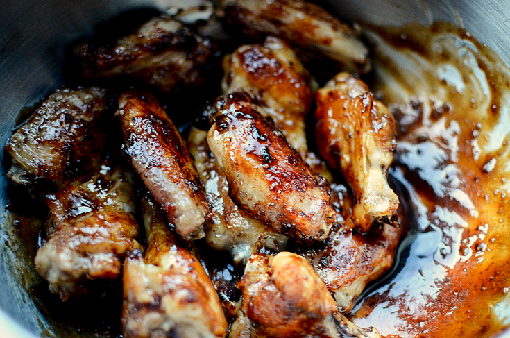 Honey Soy Sticky Chicken Wings - Step 3 - FamilyFreshMeals.com --