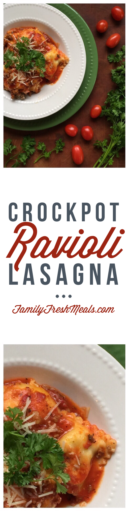 Easy Crockpot Lasagna Ravioli - Family Fresh Meals