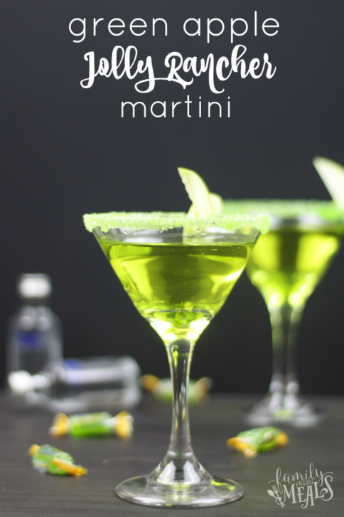 Green Apple Jolly Rancher Martini - FamilyFreshMeals.com -