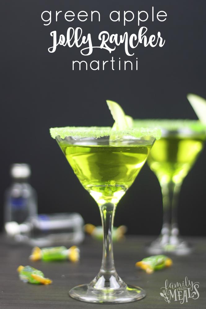 Green Apple Jolly Rancher Martini - FamilyFreshMeals.com -