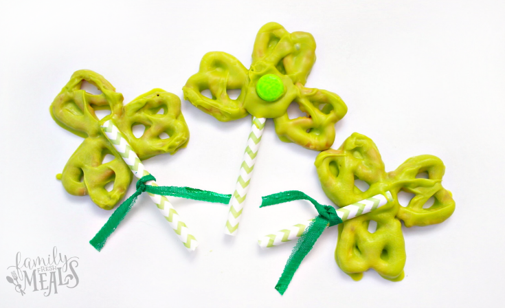Shamrock Pretzels - St. Patrick's Day treat