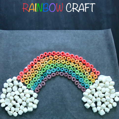 St. Patrick's Day Edible Rainbow Craft - FamilyFreshMeals.com --