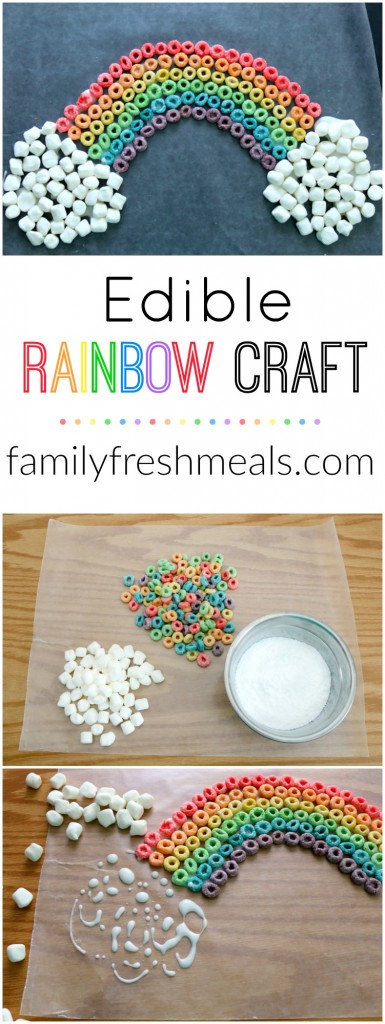St. Patrick's Day Edible Rainbow Craft -- FamilyFreshMeals.com --