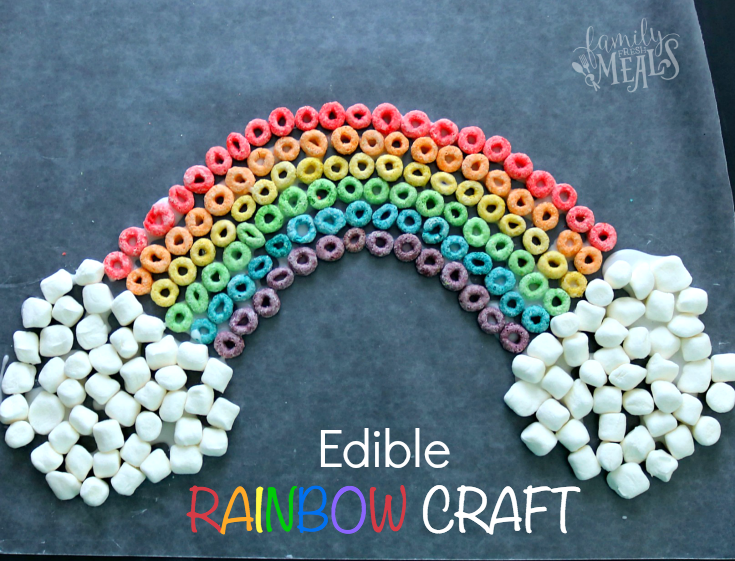 St. Patrick's Day Edible Rainbow Craft -- fb- FamilyFreshMeals.com --