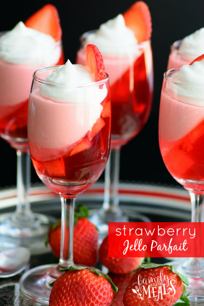 Strawberry Jello Parfait - Valentine's Day Treat Recipes