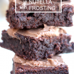 Homemade Chocolate Fudge Brownies with Nutella Frosting