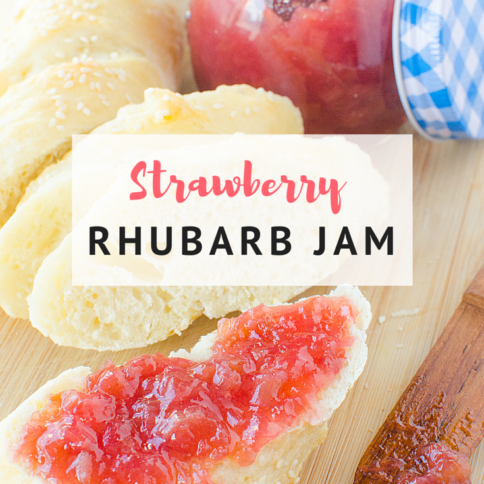 Easy Strawberry Rhubarb Jam - FamilyFreshMeals.com -