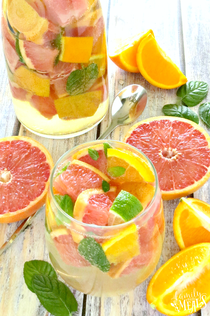 Grapefruit Orange Sangria - FamilyFreshMeals.com