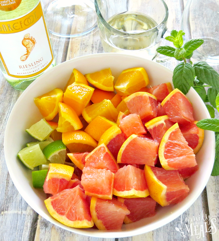 Grapefruit Orange Sangria - Ingredients