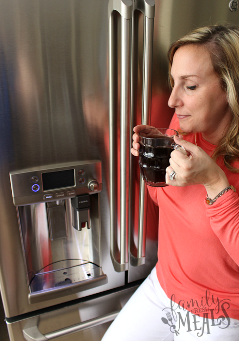 HHGregg Refrigerator Keurig Brewing System - FamilyFreshMeals.com - mmmm Coffee