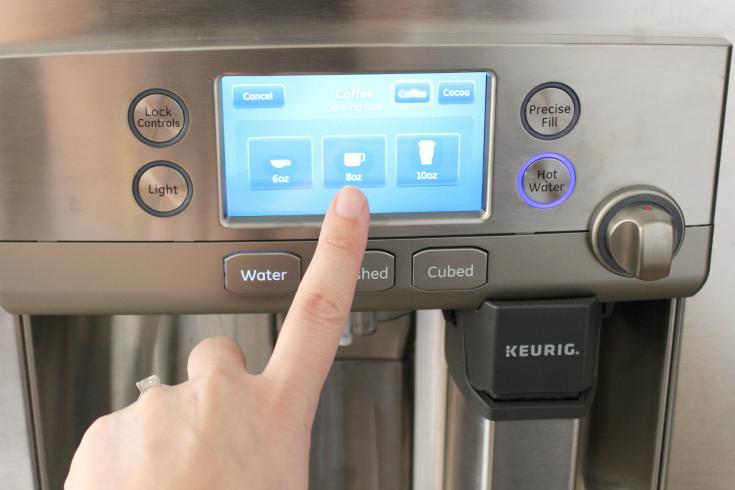 HHGregg GE Café refrigerator with a Keurig Brewing System - Step 4