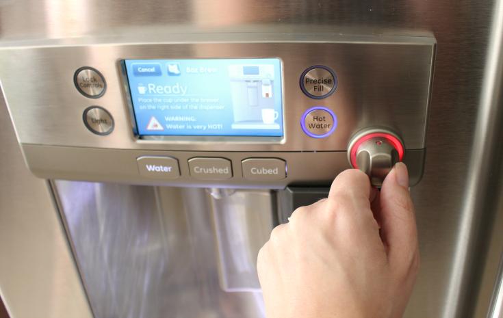 HHGregg GE Café refrigerator with a Keurig Brewing System - Step 5