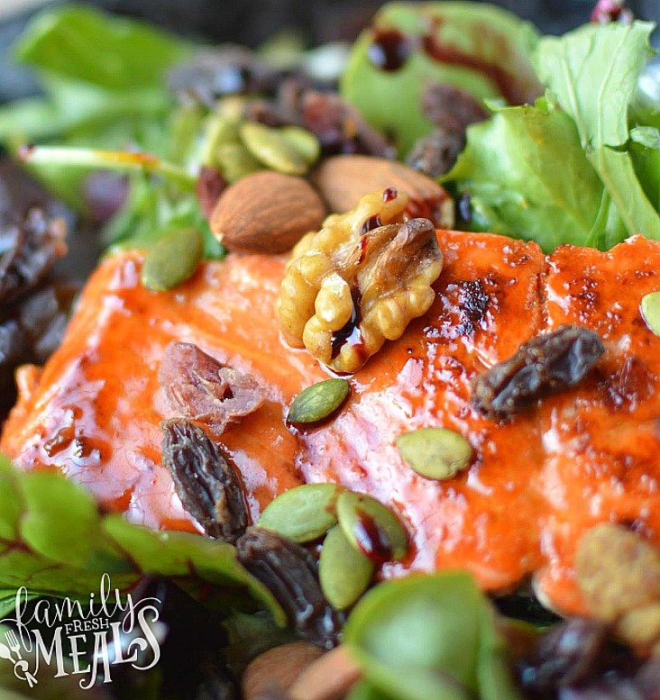 Easy Honey glazed Salmon _FamilyFreshMeals.com