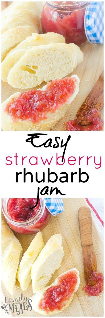 Easy Strawberry Rhubarb Jam - Family Fresh Meals recipe