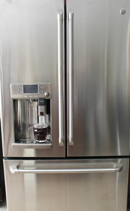 hhgregg GE Café refrigerator with a Keurig Brewing System - Beautiful!